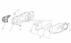 Engine - Variator Cover - Aprilia - Hex socket screw M6x35