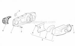 Engine - Variator Cover - Aprilia - Screw w/ flange M5x12