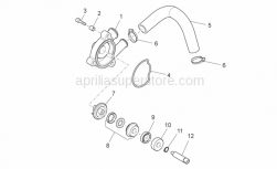 Engine - Water Pump - Aprilia - drive shaft for water pump