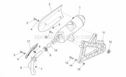 Frame - Exhaust Unit - Aprilia - MUFFLER BODYASSY