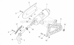 Frame - Exhaust Unit - Aprilia - Exhaust pipe
