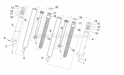 Frame - Fork II - Aprilia - SEAT, PISTON POLE COMP