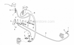 Frame - Front/Rear Brake System - Aprilia - Bored screw
