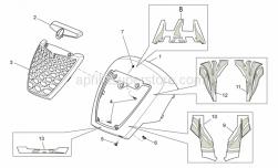 Frame - Front Body - Front Cover - Aprilia - Clip m5