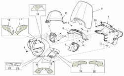 Frame - Front Body - Front Fairing - Aprilia - Headlight support, white