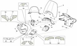 Frame - Front Body - Front Fairing - Aprilia - Headlight support, cyan