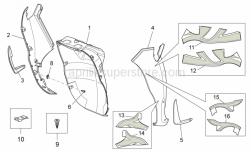 Frame - Front Body - Front Shield - Aprilia - RH Front shield, cyan