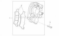 Frame - Front Caliper - Aprilia - Pads pair