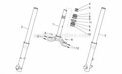 Frame - Front Fork I - Aprilia - RIGHT FRONT ABSORBER ASSEMBLY