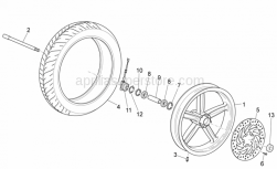 Frame - Front Wheel - Aprilia - D42-d25-7 SEALING, LEFT