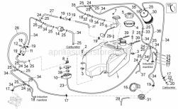 Frame - Fuel Vapour Recover System I - Aprilia - White hose clip d.13x6