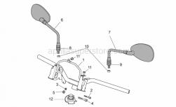 Frame - Handlebar - Aprilia - Nut M8