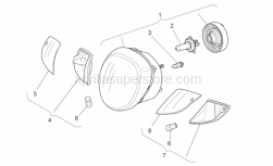 Frame - Headlight - Aprilia - LENS, LEFT TURN INDICATORS