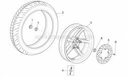 Frame - Rear Wheel - Aprilia - REAR TYRE 120/80-16 M/C CITY GRIP 60P