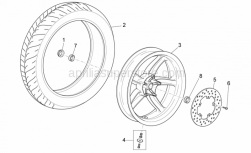 Frame - Rear Wheel - Aprilia - Screw w/ flange