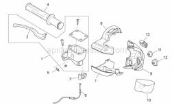 Frame - Rh Controls - Aprilia - RH upper shell