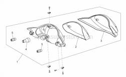 Frame - Taillight - Aprilia - Lamp RY10W 12V