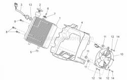 Frame - Water Cooler - Aprilia - SUPPORT RADIATOR