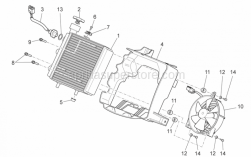 Frame - Water Cooler - Aprilia - Hex socket screw