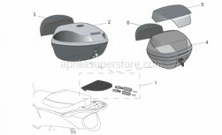 Genuine Aprilia Accessories - Acc. - Top/Cases I - Aprilia - STREET C II 47 SHOT GREY TOP BOX