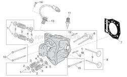Engine - Cylinder Head - Aprilia - CYLINDER HEAD ASSY (GILARDONI)