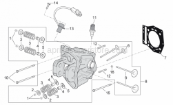 Engine - Cylinder Head - Aprilia - Screw w/ flange M6x16