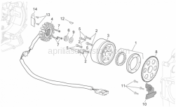 Engine - Ignition Unit - Aprilia - Starter motor gear