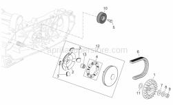 Engine - Primary Transm. - Aprilia - screw