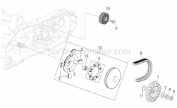 Engine - Primary Transm. - Aprilia - damping pulley guide