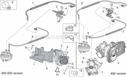 Engine - Throttle Body - Aprilia - Pipe fixing plate