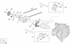 Engine - Valve Control - Aprilia - Exhaust cpl. rocker