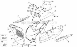Frame - Central Body - Aprilia - SPORTELLO TAPPO BENZINA