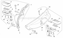 Frame - Foot Rests - Aprilia - LH rear footrests rubber