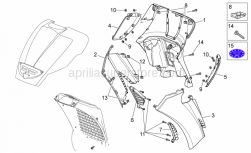 Frame - Front Body II - Aprilia - Internal shield, DISCONTINUED NO LONGER AVAILABLE