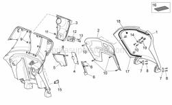 Frame - Front Body III - Aprilia - Glove comp.door gasket