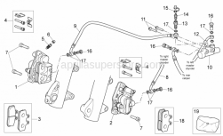 Frame - Front Brake Caliper - Aprilia - Bored screw