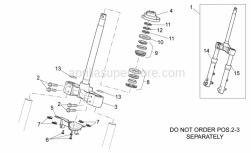 Frame - Front Fork I - Aprilia - Screw w/ flange