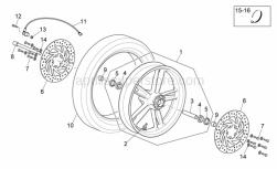 Frame - Front Wheel - Aprilia - DISTANZIALE RUOTA ANT.