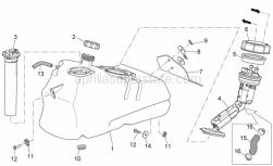 Frame - Fuel Tank - Aprilia - Screw w/ flange M6x20