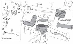 Frame - Lh Controls - Aprilia - Handgrip pair, black
