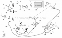 Frame - Lock Hardware Kit - Aprilia - Cable-guide