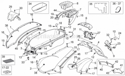 Frame - Rear Body - Aprilia - CODONE SX V.BEIGE PERA.N/DEC
