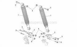 Frame - Rear Shock Absorber - Aprilia - Screw w/ flange