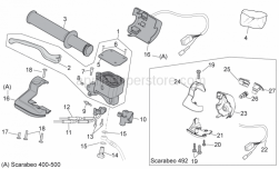 Frame - Rh Controls - Aprilia - Front brake pump