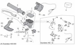 Frame - Rh Controls - Aprilia - Handgrip pair, black