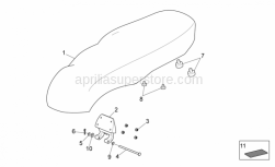 Frame - Saddle Unit - Aprilia - Stand pin