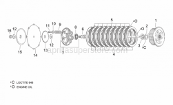 Engine - Clutch I - Aprilia - Ball bearing 16004