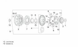 Engine - Clutch II - Aprilia - Washer 25x44,4x5