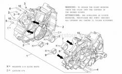 Engine - Crankcases I - Aprilia - Bushing half-shell, yellow