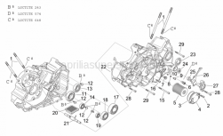 Engine - Crankcases II - Aprilia - Hex socket screw M6x25
